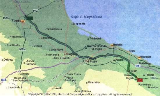 Ruvo Di Puglia Cartina.Ruvo Di Puglia Posizione Geografica