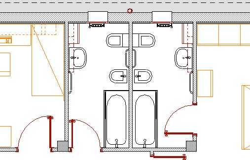 Bagno in camera pianta design casa creativa e mobili ispiratori - Misure bagno minime ...